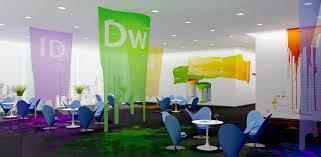 Colorful Interior Adobe Corporate Office Headquarters Interior Design In San
