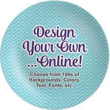 personalized dinner plate custom dinner plates personalized dinnerware youcustomizeit