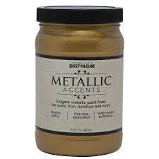 shop rust oleum metallic accents gold mine metallic gloss metallic