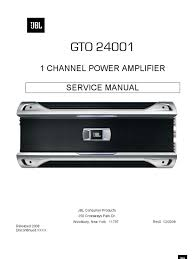 gto24001 service manual amplifier loudspeaker