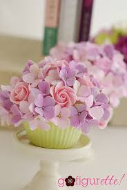 cupcake flowers pastel clay flowers cupcake