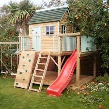 enclose the bottom of the swing set and add a door and windows to