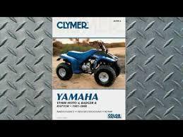 clymer manuals yamaha yfm80 moto 4 badger and raptor 1985 2008