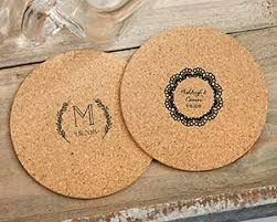 cork coasters personalized cork coasters rustic charm wedding set of 12
