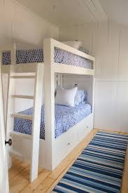 Custom Bunk Beds Kids Beach Style With Exposed Wall Studs Built In - Kids built in bunk beds