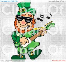 clipart st patricks day leprechaun playing rock and roll st