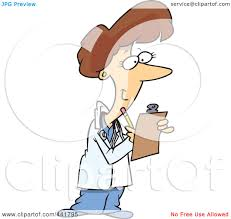 royalty free rf clip art illustration of a cartoon female doctor