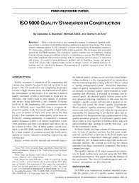 iso 9000 quality standards in construction pdf download available