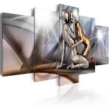 Schlafzimmerm El Top Tip Murando Acrylglasbild Abstrakt 100x50 Cm 5 Teilig Glasbilder