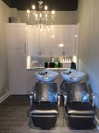 Home Salon Decorating Ideas Shampoo Bowls With Custom Cabinets Interiors Salon Atelies113