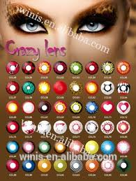 crazy contact lenses halloween black and white color contact