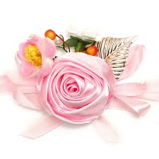 bridesmaid corsage bridal wrist flower bridesmaid corsage ribbon bracelet