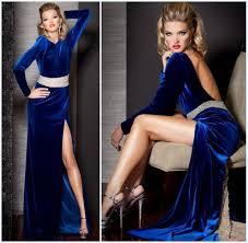 aliexpress com buy velvet long dress evening gowns with long