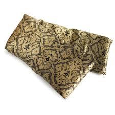 Pattern Black Silk Pack | elizabethw black gold damask hot cold flaxseed pack