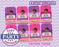 doc mcstuffins instant download buffet cards easily print