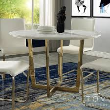 maxim marble dining table tov furniture metropolitandecor