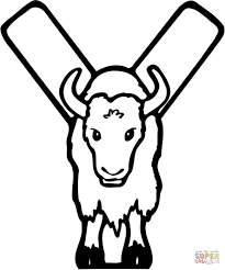 letter y is for yak coloring page free printable coloring pages