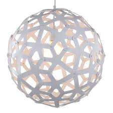 Kid Light Fixtures Large Wood Sphere Light Fixture In White 18 Inches 1 Light
