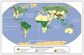 World Climate Map by 1 2 The Environment And Human Activity World Regional Geography