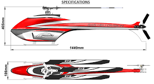 Goblin 700 Canopy by Sg732 Goblin Urukay Competition White Red With Main And Tail