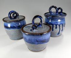 pottery kitchen canister sets details about azure blue kitchen stoneware storage canisters jars