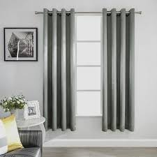 Steel Grey Curtains Mayding Home Blackout Room Darkening Curtains Window Panel Drapes