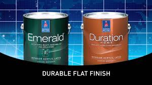 Durable Interior Paint Emerald Interior U0026 Duration Home Cleanable Flat Sherwin
