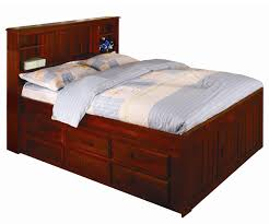 bedding cool merlot full size bookcase captains bed frames