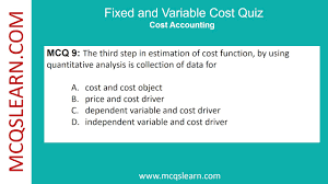 fixed and variable cost formula quiz mcqslearn free videos youtube