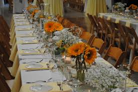 Vase Table Centerpiece Ideas Sunflower Centerpiece An Idea For Square Rectangle Tables For