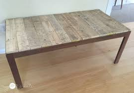 Glass And Wood Coffee Tables Remodelaholic Update A Glass Top Coffee Table With A Pallet