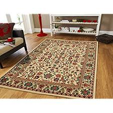 Carpet Area Rug Amazon Com Large 8x11 Ivory Persian Traditional Style Rug