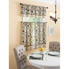Coffee Themed Curtains Curtain Coffee Themed Kitchen Curtains Home Design Ideas And