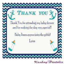 nautical thank you cards nautical baby shower thank you card kashay printables