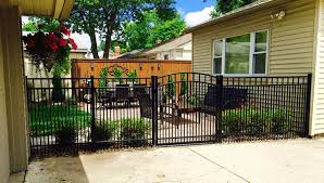 paramount fence aluminum fence installation in michigan