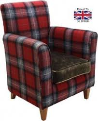 Tartan Armchairs High Back Chairs High Seat Chairs Made For You 4u