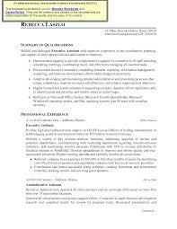 Real Estate Resume Templates Free Cover Letter Executive Secretary Resume Sample Executive Secretary