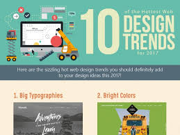 website design ideas 2017 10 of the hottest web design trends for 2017 infographic