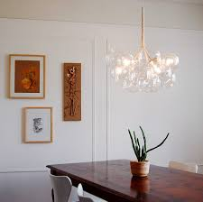 dining rooms with wainscoting lighting floating bubble chandelier with white paint wainscoting