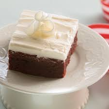 red velvet brownies with cream cheese frosting farm flavor