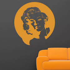 marilyn monroe portrait circle wall sticker world of wall stickers marilyn monroe portrait circle wall sticker decal d