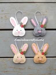 bunny rabbit hanging ornament by verity bunny