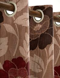 Chocolate Curtains Eyelet Floella Made To Measure Curtains Wine Chocolate