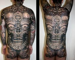 japanese back tattoo skull back tattoo by dirty roses