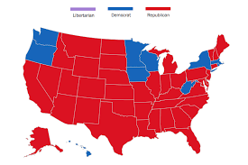 map of america election map how america voted in every election since 1824