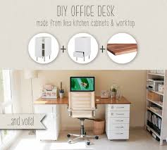 Office Desk Storage This Diy Office Desk Is Sturdy Built From Ikea Kitchen