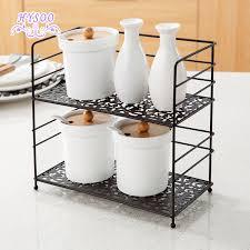 Kitchen Countertop Shelf Wrought Iron Double Shelf Spice Rack Kitchen Countertops Floor