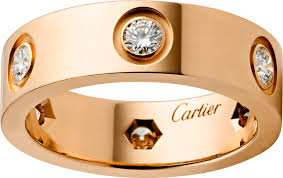 cartier love rings images Crb4097500 love ring pink gold diamonds cartier png