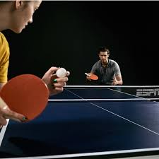 2 piece ping pong table espn official size table tennis table with table cover walmart com