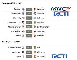 Jadwal Liga Inggris Jadwal Pertandingan Liga Primer Inggris Pekan 37 Jadwal Hasil